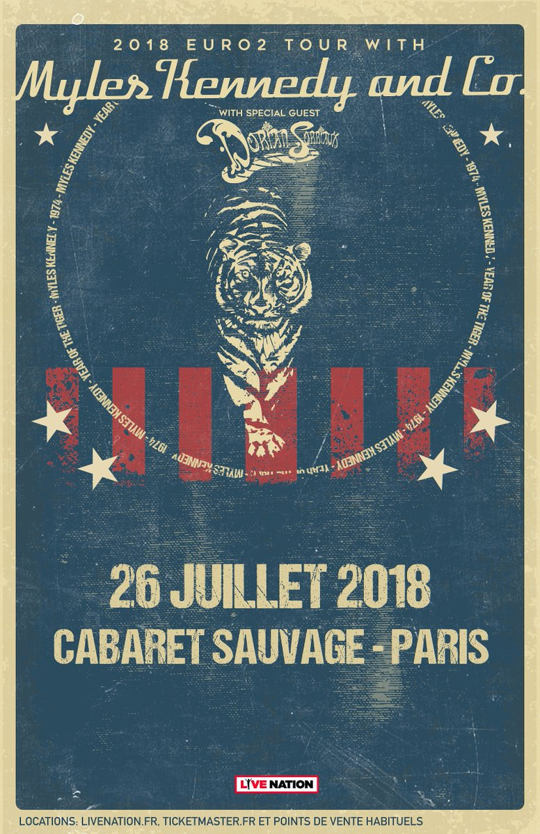 Myles Kennedy cabaret sauvage 2018 live nation slash france paris