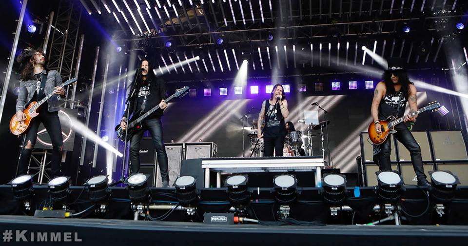 Slash france jimmy kimmel driving rain living the dream conspirators smkc