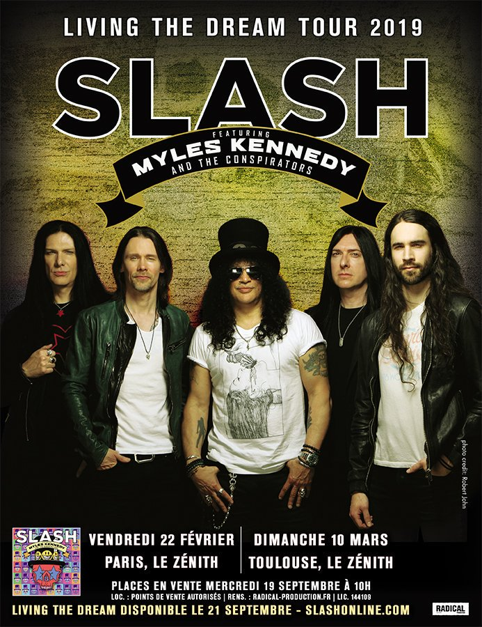 Slash france zenith de paris toulouse metropole 2019 conspirators living the dream smkc