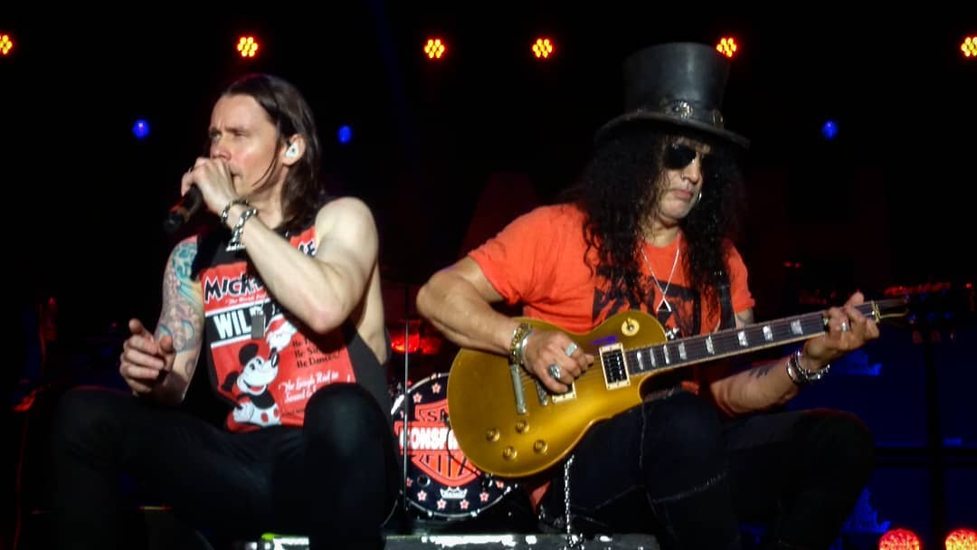 Slash france smkc living the dream porto alegre bresil 2019 conspirators kerns kennedy myles fitz pepsi stage
