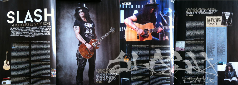 Slash france guitar été 2014 summer french press promo world on fire