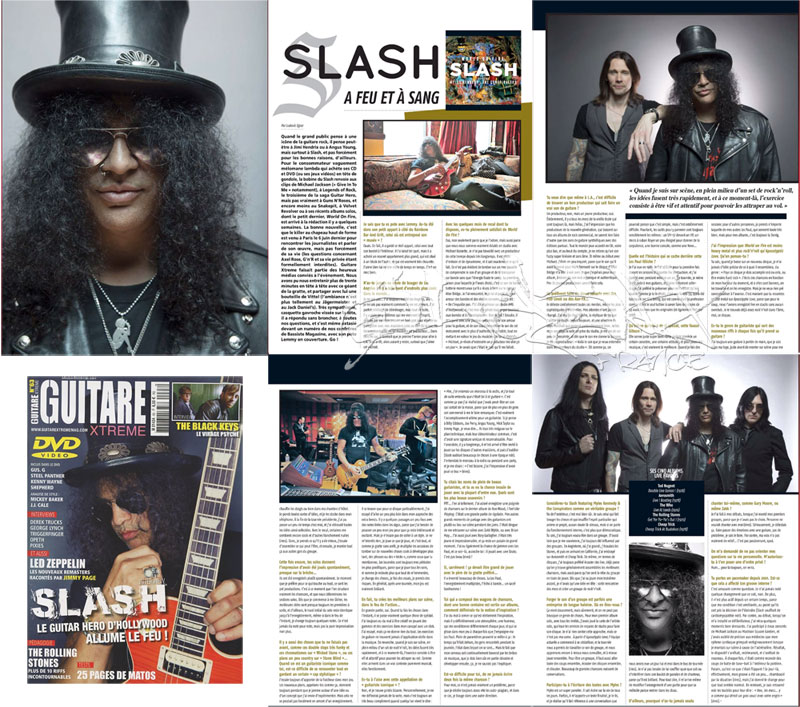 Slash france guitar xtreme juillet 2014 presse french promo world on fire