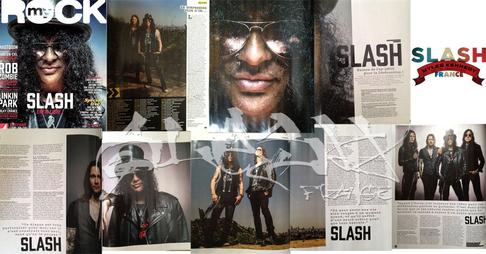 Slash france myles kennedy magazine myrock aout 2014 world on fire press promo