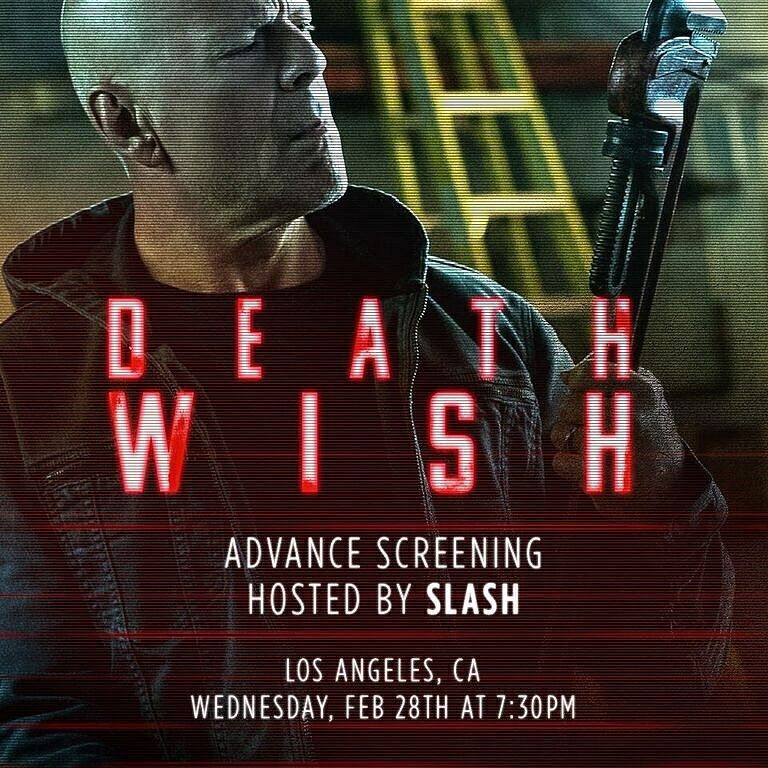 Slash france death wish pop up screening advance los angeles 2018