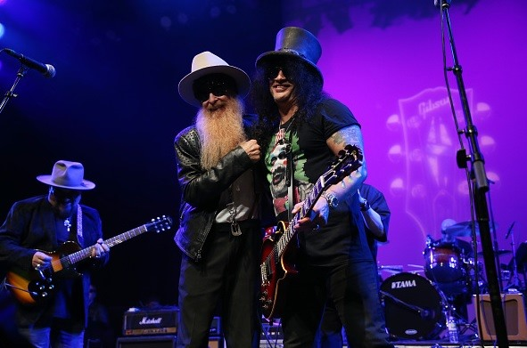 Slash france gibson namm after party collection 2020 grove jimmy vivino zztop billy gibbons
