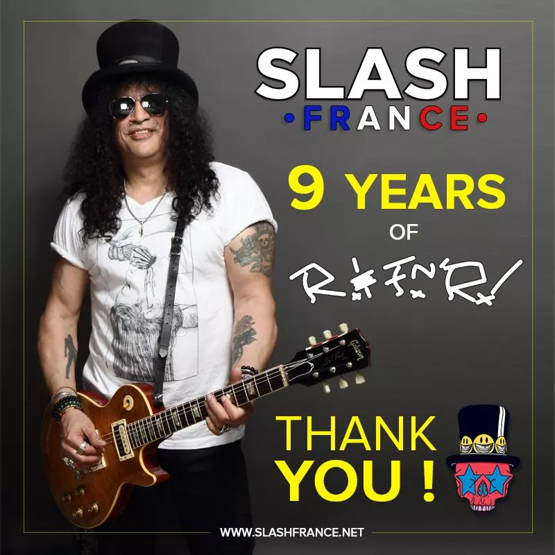 Slash france smkc 9 ans years 2019 kerns lennedy living the dream conspirators rnfnr