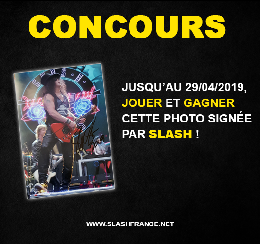 Slash france concours photo signée