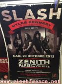 Slash france affiche poster conspirators 2012 zénith la villette 20 octobre métro paris