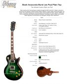 Gibson les paul slash signature anaconda burst plain top 2017
