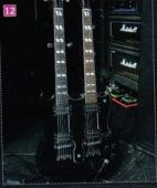 slash france Gibson EDS 1975 Double neck 12 cordes