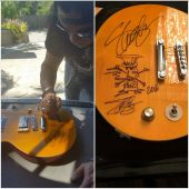 Slash france From Classic to rock benefit charity guitar signature